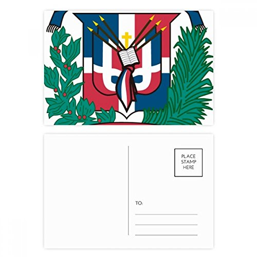 Dominican Republic National Emblem Country Postcard Set Birthday Thanks Card Mailing Side 20pcs