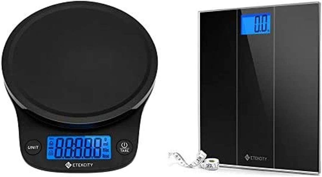 Etekcity 0.1g Food Kitchen Scale and Digital Body Weight Bathroom Scale