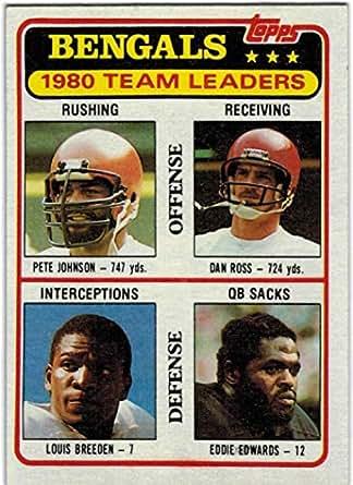 59c3c3615 Amazon.com  1981 Topps AFC Champion Cincinnati Bengals Team Set with ...
