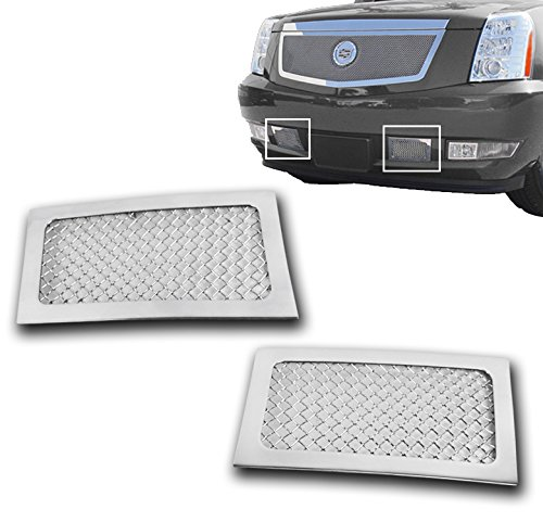 ZMAUTOPARTS Cadillac Escalade Esv EXt Bumper Lower Stainless Steel Mesh Grille Insert Cadillac Escalade Chrome Mesh