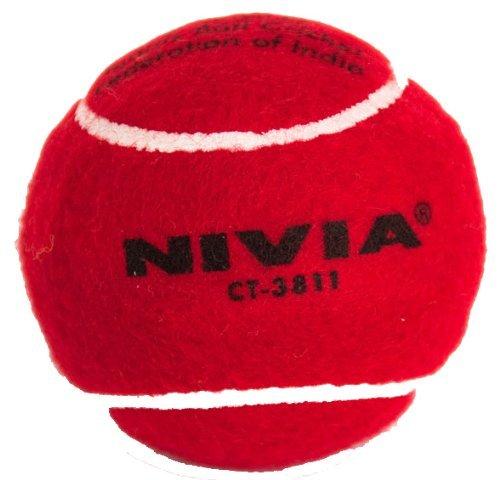 (Nivia Heavy Tennis Ball Cricket Ball (Pack of 12), Red)