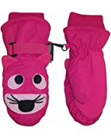 NIce Caps Kids Waterproof Tiger Face Embroidered Ski Mitten