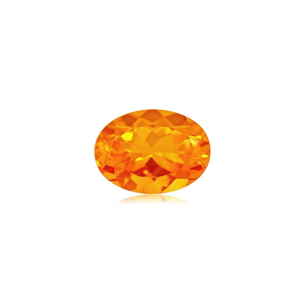 8.55-9.83 Cts of 18x13 mm AA Oval Brazilian Fire Opal ( 1 pc ) Loose Gemstone