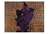 Stylized Floral Decorative Back (Schiele) Jigsaw Puzzle Print 110 Pieces