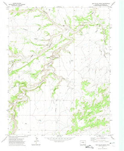 Colorado Maps | 1971 Sun Valley Ranch, CO USGS Historical Topographic Map | Cartography Wall Art | 24in x 30in ()
