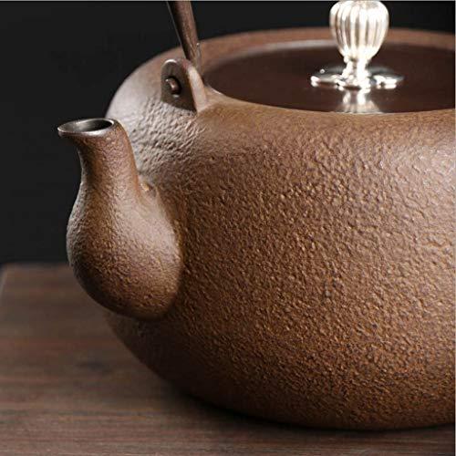 Kitchen Tea Set Porcelain Drinkware Set Saucers Japanese Cast Iron Tetsubin Iron Kettle, Cast Iron Kettle, Hand-Made, Uncoated, Crystal Juice Crystallization Process, Tea Set 1300 Ml by Chusea (Image #2)