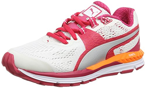 Puma Speed 600 Ignite WN, Chaussures de Course Femme Multicolore (White/Rose Red/Puma Silver)