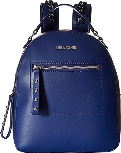 LOVE Moschino Women's Chain Strap Backpack Navy One Size by Love Moschino