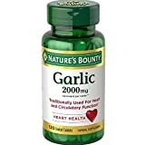 Nature's Bounty Garlic 2000mg, Tablets 120 ea (Pack of 5)