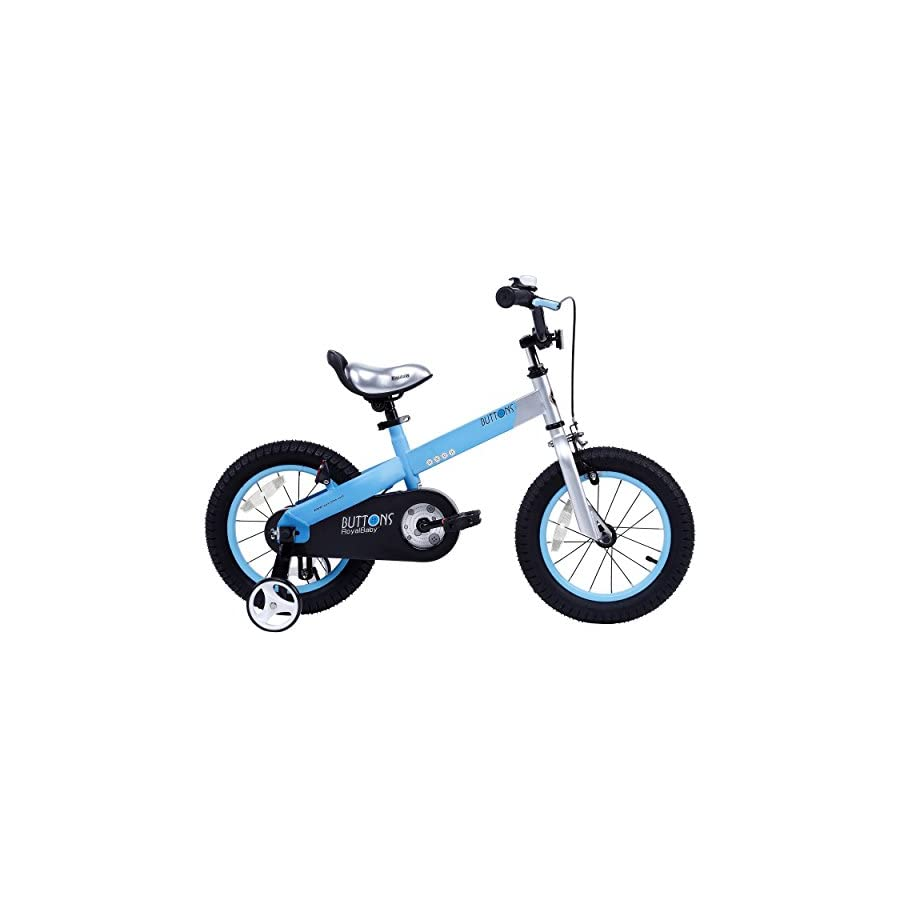 "RoyalBaby CubeTube Matte Buttons 18"" Bicycle for Kids, Blue"