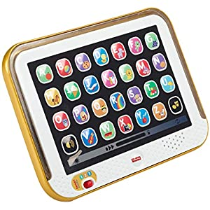 Fisher-Price Laugh & Learn Smart Stages Tablet – Gold, Electronic Learning Toy with Music