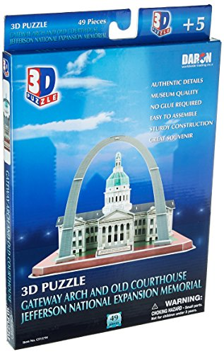 Jeffersons Arch - St. Louis Arch/Jefferson National Memorial 3D Puzzle