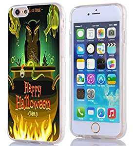 iPhone 6 caso Halloween, iPhone 6 (11,94 cm) TPU suave 360 Degree funda magia molucas y feliz Halloween