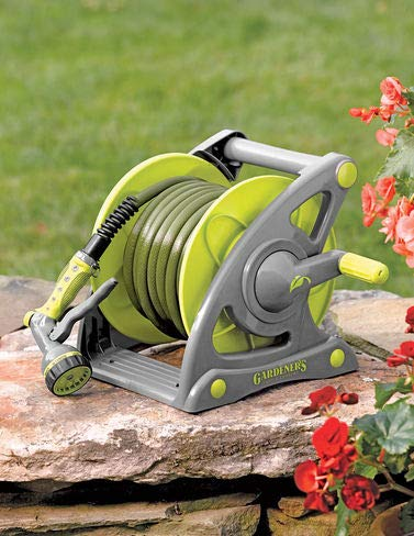 Gardener's Supply Company Compact Hose & Reel Set, 50