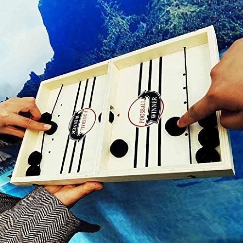 JVSISM Sling Puck Spiel Tisch Fu?Ball Gewinner Brett Spiel Bounce Schach Auswerfen Schach Bounce Schach Party Haus Interaktive Spiele Spielzeug