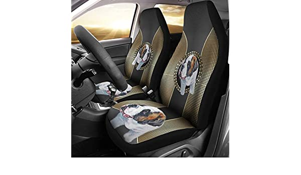 Amazon.com  Simply Cool Trends Cute Saint Bernard Dog Print Car Seat Covers   Sports   Outdoors 423283b145