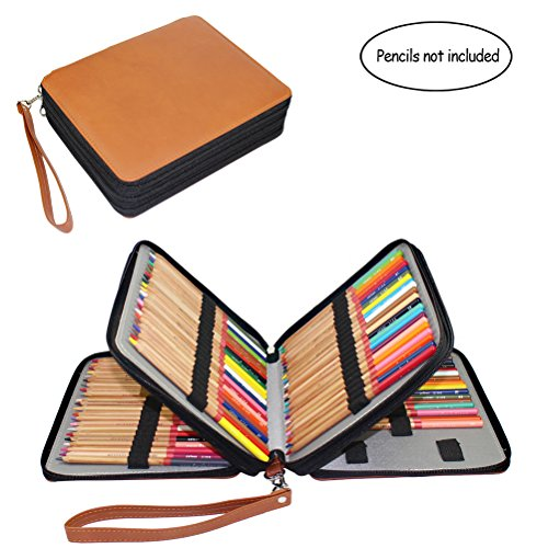 120 Slots Pencil Case, Travel Portable Colored Pencil Holder