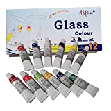 Happlee, Permanent Glass Paint, Watercolors Tubes Artist Paint and ...
