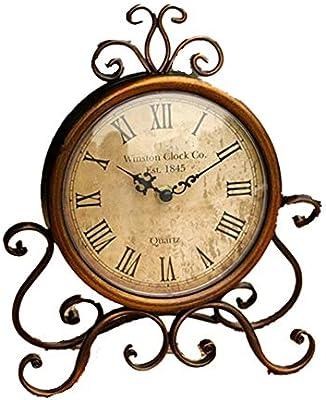 Dfghbn-HJ Reloj de Mesa Vintage Simple Retro Reloj de Escritorio ...