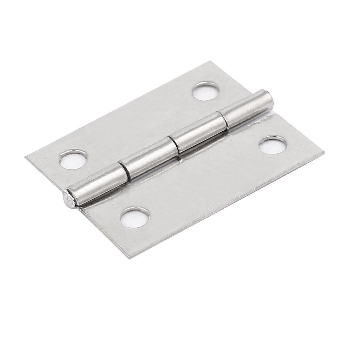 uxcell Cabinet Wardrobe Door 1.5-inch Length Stainless Steel Screw Fixing Hinge