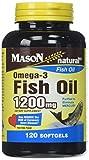 Mason Vitamins Fish Oil Omega-3 Softgel, 120 Count