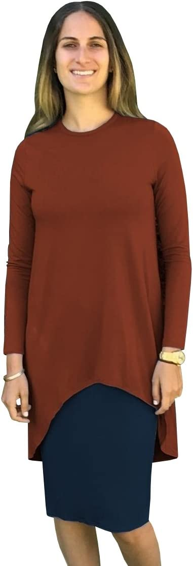 فستان نسائي متوسط الطول ذو طبقات Hi-Lo من Baby'O، لون بني غامق/كحلي، مقاس XS