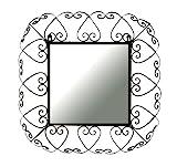 Ashton Sutton Wall Mirror, Square Wrought Iron