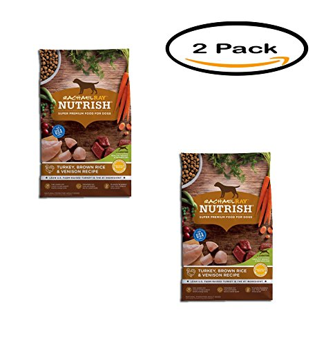 PACK OF 2 - Rachael Ray Nutrish Natural Dry Dog Food, Turkey