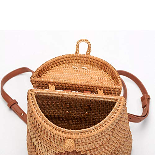 Women's Bag, Fashion Bag - Summer Women's Bag - Hand-Woven Rattan Bag - Crossbody Beach Bag by BHM (Image #3)