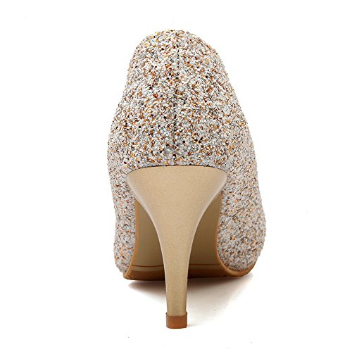 Allhqfashion Korkokengät Kengät Kultaa Pumput Materiaali Valikoituja Naisten Väri Sekoitettu Vedä 1qnXwr1xF8
