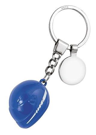 Ten Llavero Grande Casco Azul con ficha cod.EL7879 cm 10,5x3 ...