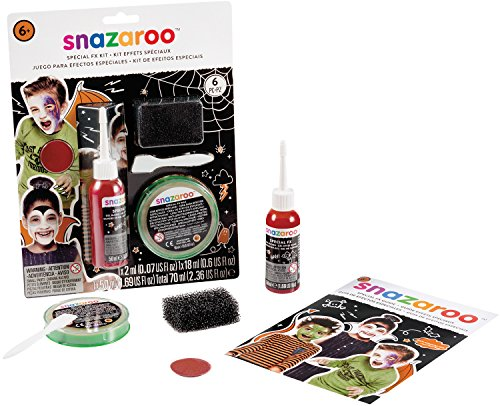 Snazaroo Halloween Face Painting 6pc 70ml Special Effects...
