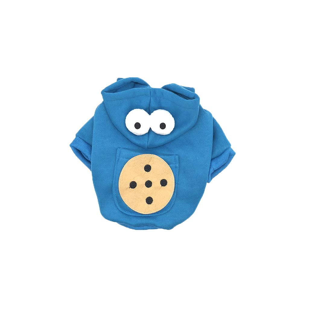 Large Cute Dog Hoodies Cat Coats Jacket Windproof Cold Weather Dog Costume Winter Pet Apparel,bluee,Christmas Vest Small Medium Large Dog Puppy Clothes,L