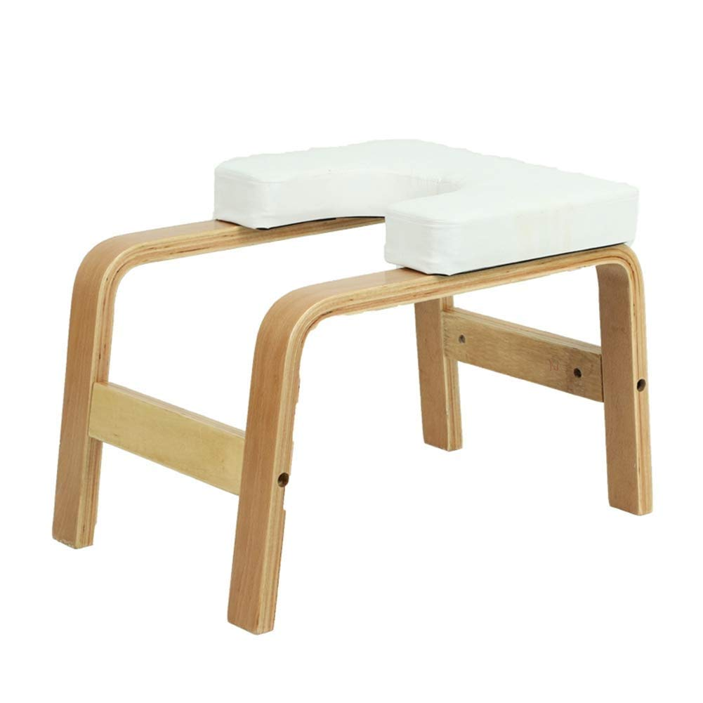 Hazjje-zatr061 Inverted Chair Yoga Auxiliary Chair Ergonomic Design Makes The Inverted Stand Easier Home Fitness Inverted Stool Wooden Inverted Machine Inverted Yoga Lovers Gift ( Color : White ) by Mianbao015