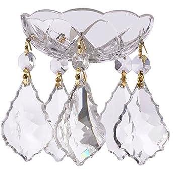 Amazon 1 piece 4 inch 5 holes clear crystal chandelier 1 piece 4 inch 5 holes clear crystal chandelier bobeche 30 lead aloadofball Choice Image