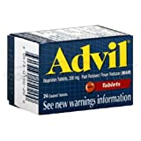 Advil Ibuprofen Tablet, 200 Milligram - 6 box per pack -- 12 packs per case.