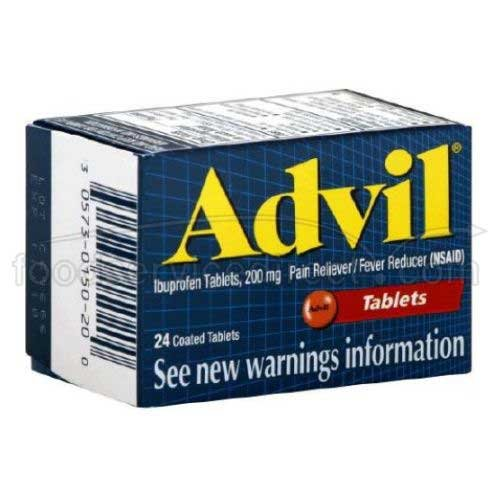Advil Ibuprofen Tablet, 200 Milligram - 6 box per pack -- 12 packs per case.