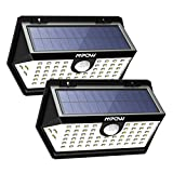 Mpow Solar Lights 63 LEDs 3 Lighting Modes Solar Motion Sensor Wall Lights 270° Wide-Angle Detection IP65 Waterproof Brighter and Durable Night Lights for Garden Garage Driveway Pathway Patio 2 Pack
