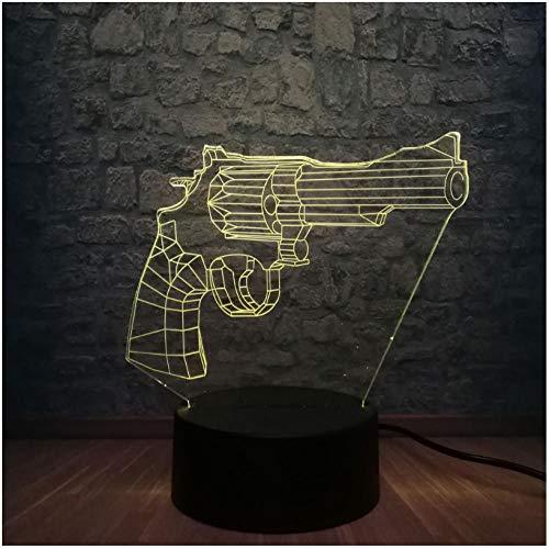 Beleuchtung 3D Nachtlicht USB 7 Farbwechsel Boy Room Decor Weihnachtsgeschenk Kid Toys