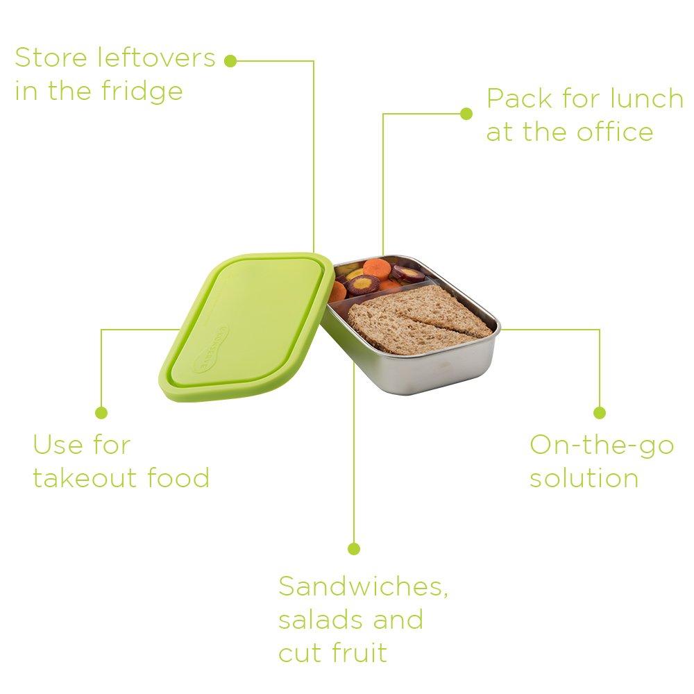 Amazon.com: U Konserve, contenedor rectangular dividido de ...