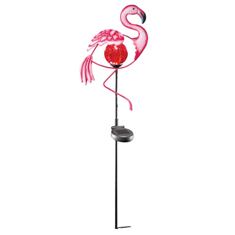 Solar Flamingo Yard Stake