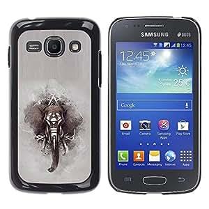 For Samsung Galaxy Ace 3 III / GT-S7270 / GT-S7275 / GT-S7272 Case , African Indian Painting Grey - Diseño Patrón Teléfono Caso Cubierta Case Bumper Duro Protección Case Cover Funda