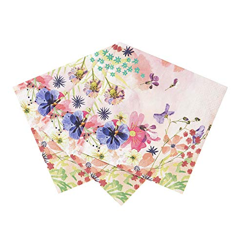 - Talking Tables BG-CNAPKIN Blossom Tea Party Floral Napkins, Pack of 20, 25 x 25cm, 10