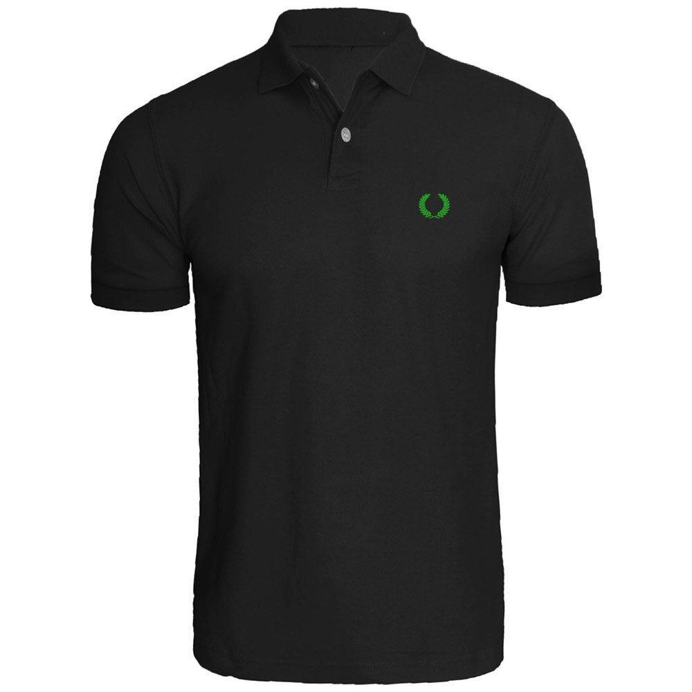 Mens Laurel Wreath Embroidery Embroidered Polo Shirts