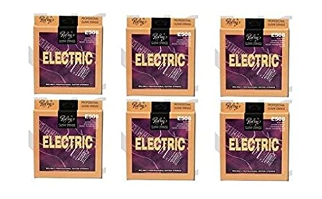 6 Strings Pack- cuerdas Nick Round Wound ex-light 0, 09 para guitarra eléctrica: Amazon.es: Instrumentos musicales