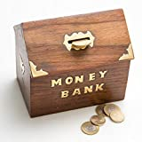 Rusticity Wood Piggy Bank for Kids and Adults - Hut design   Handmade   (6x5.5 in)