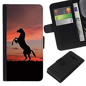 Stuss Case / Funda Carcasa PU de Cuero - Animales lindos de caballo - Samsung Galaxy A3
