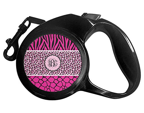 YouCustomizeIt Triple Animal Print Retractable Dog Leash - Small (Personalized)