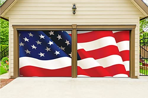 Victory Corps Outdoor Patriotic American Holiday Garage Door Banner Cover Mural Décoration Usa Flag Outdoor Patriotic 2 Car Split Garage Door Banner Décor Sign Two 7 X 8 Graphic Kits Garden Outdoor Amazon Com