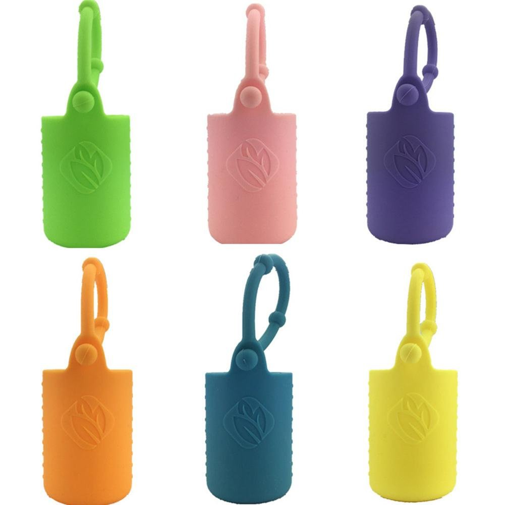US-PopTrading Essential Oil Bottle Protector Case Silicone Holder Sleeve with Hang Rope Travel Carrying 5ML 10ML 15ML Essential Oil Bottle Protective Cover